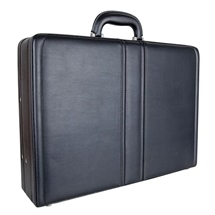 Attache Case- Black Leather