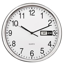 Day and Date Wall Clock
