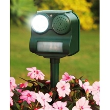 Solar Powered, Motion Activated, Animal Repeller