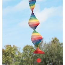 Rainbow Spiral Wind Mobile