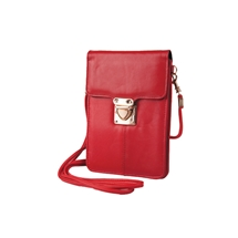 Leather Phone Bag - Red