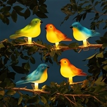 Solar Garden Bird Lights (Set of 5)