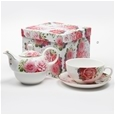 Elegant Pink Roses Bone China_CW200_1