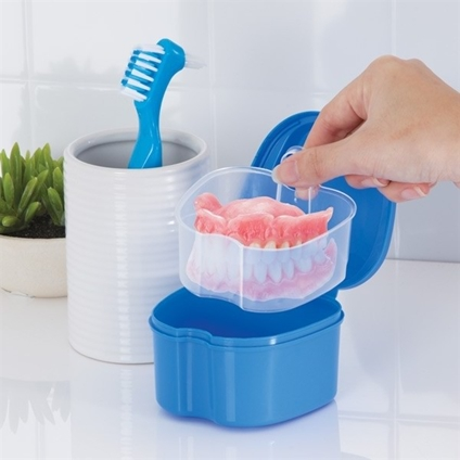 Denture Box With Brush