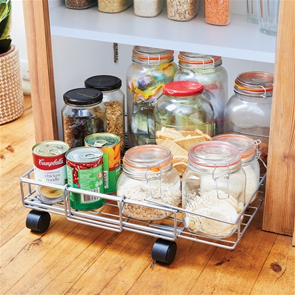 Adjustable Rolling Floor Shelf